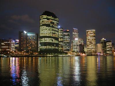 Photograph of Brisbane Australia by Night