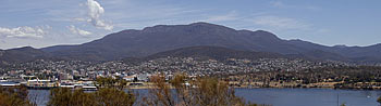 Hobart Australia from the Eastern Shore