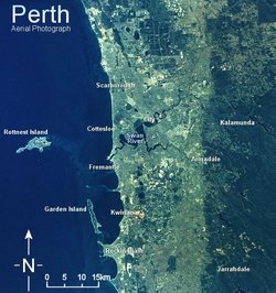 Map of Perth Australia