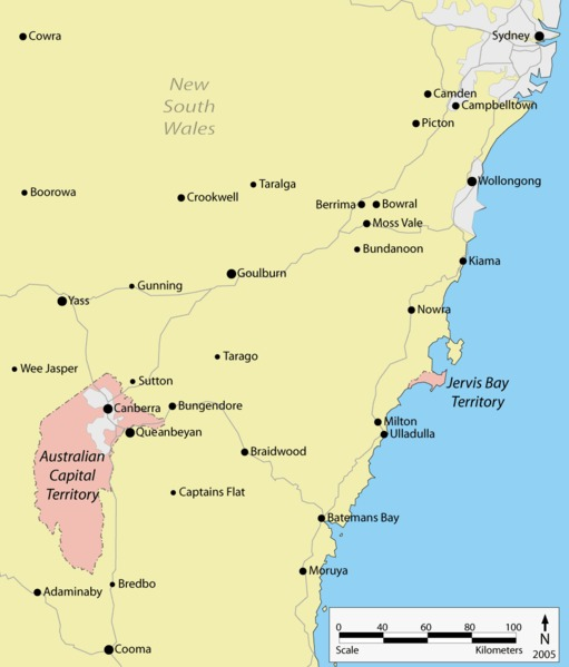 Australian Capital Territory ACT Map