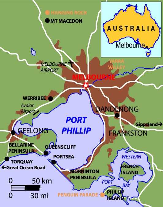 a map of greater melbourne australia