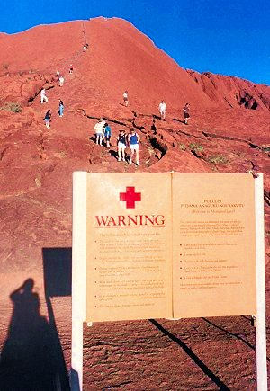 Ayers Rock / Uluru - Warning Signs