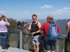 Reginald Summersby at Echo Point observation platform - Blue Mountains