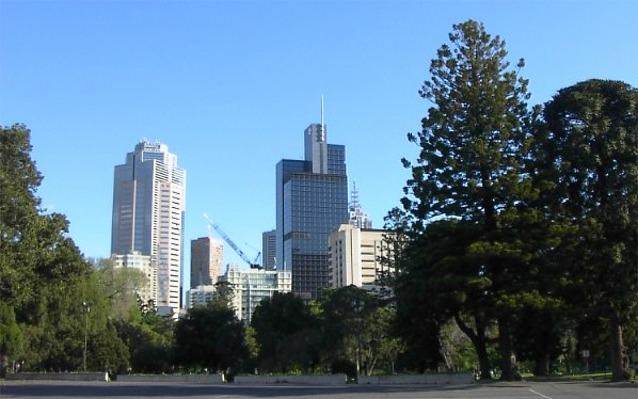 The central business district of Melbourne Australia, viewed from the north