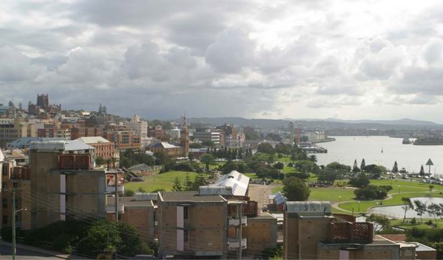 View from Fort Scratchley showing Newcastle