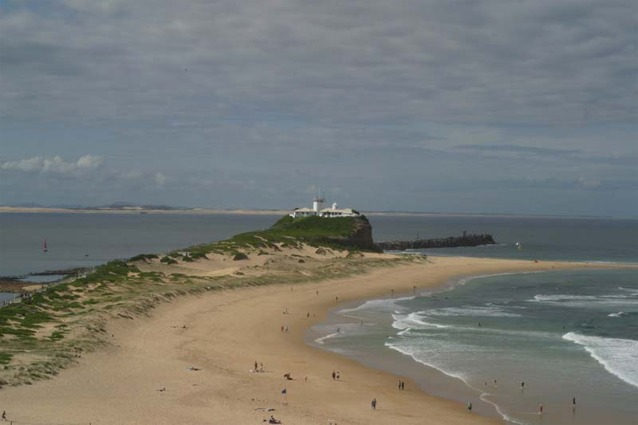 View from Fort Scratchley showing Nobby's Head - Newcastle Australia