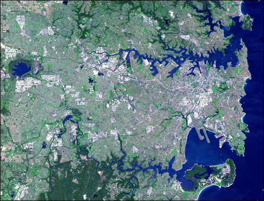 Satellite Images of Sydney Australia from Space