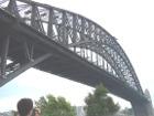 Close-up photograph of the Sydney Harbour Bridge - Sydney Australia