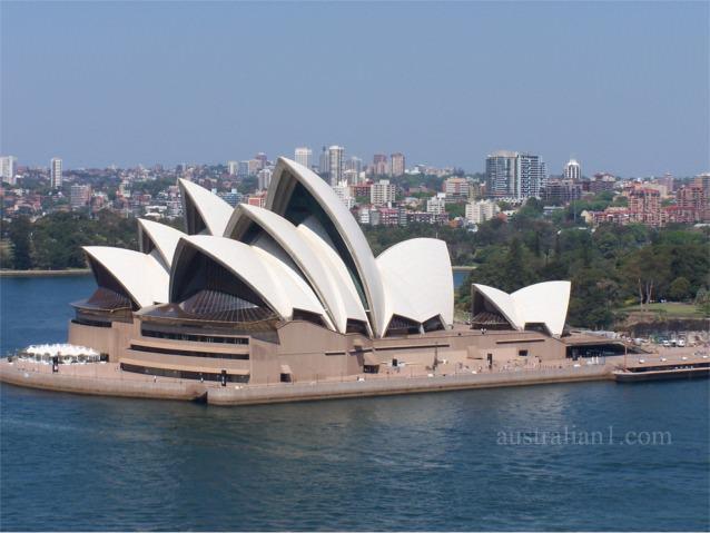 Sydney Opera House from the Sydney Harbour Bridge