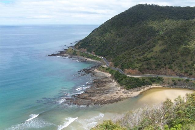 The Great Ocean Road, just south of Lorne, Victoria, Australia